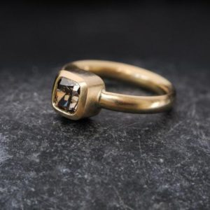 Chocolate Diamond Ring – Solitaire Diamond Ring – Gold Diamond Engagement Ring –  Size 5.25 Diamond Ring – Ready to Ship – Free Shipping – | Natural genuine Gemstone rings, simple unique alternative gemstone engagement rings. #rings #jewelry #bridal #wedding #jewelryaccessories #engagementrings #weddingideas #affiliate #ad