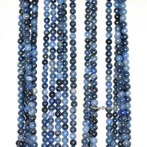 Shop Dumortierite Beads! 2mm African Blue Dumortierite Gemstone Blue Round 2mm Loose Beads 16 inch Full Strand LOT 1,2,6,12 and 50 (90149645-170-E) | Natural genuine round Dumortierite beads for beading and jewelry making.  #jewelry #beads #beadedjewelry #diyjewelry #jewelrymaking #beadstore #beading #affiliate #ad