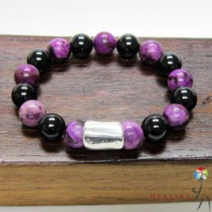Shop Sugilite Bracelets! Dyslexia Bracelet Healing Chakra Bracelet Mulit-Gemstone Dyslexia Bracelet Black Tourmaline Sugilite Bracelet Dyslexia Gemstone Chakra Mala | Natural genuine Sugilite bracelets. Buy crystal jewelry, handmade handcrafted artisan jewelry for women.  Unique handmade gift ideas. #jewelry #beadedbracelets #beadedjewelry #gift #shopping #handmadejewelry #fashion #style #product #bracelets #affiliate #ad
