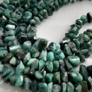 Shop Emerald Chip & Nugget Beads! Emerald chips | Natural genuine chip Emerald beads for beading and jewelry making.  #jewelry #beads #beadedjewelry #diyjewelry #jewelrymaking #beadstore #beading #affiliate #ad