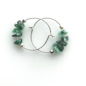 Raw Emerald Earrings, Anxiety Jewelry, Soothing Stones, raw stone earrings, May Birthstone | Natural genuine Emerald earrings. Buy crystal jewelry, handmade handcrafted artisan jewelry for women.  Unique handmade gift ideas. #jewelry #beadedearrings #beadedjewelry #gift #shopping #handmadejewelry #fashion #style #product #earrings #affiliate #ad