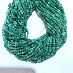 Shop Emerald Faceted Beads! Tiny Green Emerald Beads Micro Faceted 2mm 3mm, Natural Emerald Beads, Small Green Gemstone Semi Precious Spacer Beads, Delicate Emerald | Natural genuine faceted Emerald beads for beading and jewelry making.  #jewelry #beads #beadedjewelry #diyjewelry #jewelrymaking #beadstore #beading #affiliate #ad