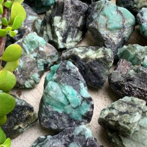 Raw Emerald Stone | Natural genuine stones & crystals in various shapes & sizes. Buy raw cut, tumbled, or polished gemstones for making jewelry or crystal healing energy vibration raising reiki stones. #crystals #gemstones #crystalhealing #crystalsandgemstones #energyhealing #affiliate #ad