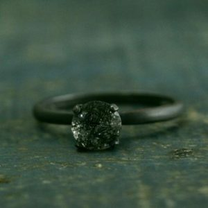 Flat Black Engagement Ring–Oxidized Black Ring–Rutilated Quartz Engagement Ring–Black Stone Ring–Dark Stone Engagement–Simple Black | Natural genuine Array jewelry. Buy handcrafted artisan wedding jewelry.  Unique handmade bridal jewelry gift ideas. #jewelry #beadedjewelry #gift #crystaljewelry #shopping #handmadejewelry #wedding #bridal #jewelry #affiliate #ad