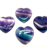 Fluorite Crystal Heart Pendant – Rainbow Fluorite Crystal W / Hole – Fluorite Heart – Healing Crystals And Stones – Rainbow Fluorite Heart | Natural genuine Gemstone jewelry. Buy crystal jewelry, handmade handcrafted artisan jewelry for women.  Unique handmade gift ideas. #jewelry #beadedjewelry #beadedjewelry #gift #shopping #handmadejewelry #fashion #style #product #jewelry #affiliate #ad