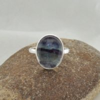 Fluorite Ring, Fluorite 10x14mm Oval Shape Gemstone Ring, 925 Sterling Silver Ring, Multi Color Ring   Natural genuine Gemstone jewelry. Buy crystal jewelry, handmade handcrafted artisan jewelry for women.  Unique handmade gift ideas. #jewelry #beadedjewelry #beadedjewelry #gift #shopping #handmadejewelry #fashion #style #product #jewelry #affiliate #ad