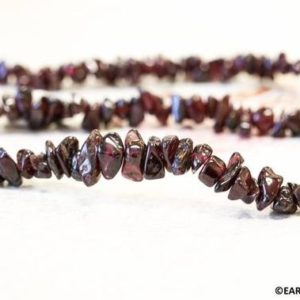 """Shop Garnet Chip & Nugget Beads! M/ Red Garnet 8mm Chips Beads 15.5"""" strand Small Garnet Chips For Spacer, Red Gemstone For All Kinds Jewelry Design Making 
