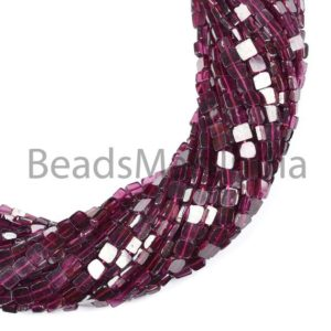 Shop Garnet Bead Shapes! Garnet Smooth Flat Square, Garnet Plain Beads, Garnet Square Beads, Garnet Square Shape Beads, Garnet Beads, Square Beads 4-5mm | Natural genuine other-shape Garnet beads for beading and jewelry making.  #jewelry #beads #beadedjewelry #diyjewelry #jewelrymaking #beadstore #beading #affiliate #ad