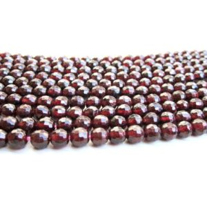 "Round 8mm garnet beads,birthstone beads,red cherry beads,cherry garnet beads,semiprecious beads – 16"" Strand 