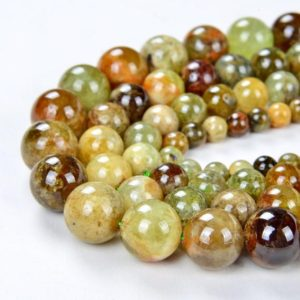 Shop Garnet Round Beads! Natural Green Garnet Gemstone Grade Aa Round 4mm 5mm 6mm 7mm 8mm 9mm 10mm 12mm Loose Beads Bulk Lot 1, 2, 6, 12 And 50 (a285) | Natural genuine round Garnet beads for beading and jewelry making.  #jewelry #beads #beadedjewelry #diyjewelry #jewelrymaking #beadstore #beading #affiliate #ad