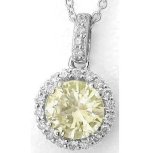 Shop Yellow Sapphire Pendants! Genuine 0.90 ctw Round Light Yellow Sapphire Pendant Diamond Halo in Solid 14k White Gold, Gold Chain Included, Gift for Her, Real Sapphire | Natural genuine Yellow Sapphire pendants. Buy crystal jewelry, handmade handcrafted artisan jewelry for women.  Unique handmade gift ideas. #jewelry #beadedpendants #beadedjewelry #gift #shopping #handmadejewelry #fashion #style #product #pendants #affiliate #ad