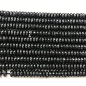 Shop Shungite Beads! Genuine Shungite 6mm – 10mm Rondelle Black Gemstone Loose Beads 15 inch Jewelry Supply Bracelet Necklace Material Support Wholesale | Natural genuine rondelle Shungite beads for beading and jewelry making.  #jewelry #beads #beadedjewelry #diyjewelry #jewelrymaking #beadstore #beading #affiliate #ad