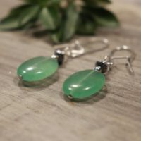 Green Earrings, Green Gemstone Earrings, Serpentine Earrings, Sterling Silver 925 Earrings, Green Boho Earrings, Kidney Wire 925 Earrings | Natural genuine Gemstone jewelry. Buy crystal jewelry, handmade handcrafted artisan jewelry for women.  Unique handmade gift ideas. #jewelry #beadedjewelry #beadedjewelry #gift #shopping #handmadejewelry #fashion #style #product #jewelry #affiliate #ad
