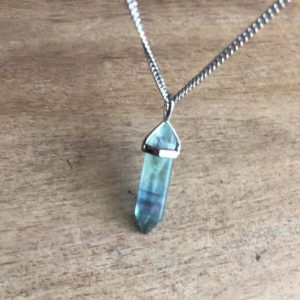 Shop Fluorite Necklaces! Green Fluorite necklace, healing crystal necklace, Chakra necklace, metaphysical crystal, protection stone, mineral necklace, crystal altar | Natural genuine Fluorite necklaces. Buy crystal jewelry, handmade handcrafted artisan jewelry for women.  Unique handmade gift ideas. #jewelry #beadednecklaces #beadedjewelry #gift #shopping #handmadejewelry #fashion #style #product #necklaces #affiliate #ad