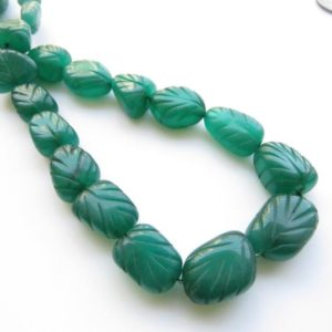 Shop Jade Chip & Nugget Beads! Green Jade Carved Tumble Beads, Green Jade Tumbles, 15mm To 22mm Green Jade Hand Carved Beads, 17 Inch Bead Strand, GDS1416 | Natural genuine chip Jade beads for beading and jewelry making.  #jewelry #beads #beadedjewelry #diyjewelry #jewelrymaking #beadstore #beading #affiliate #ad
