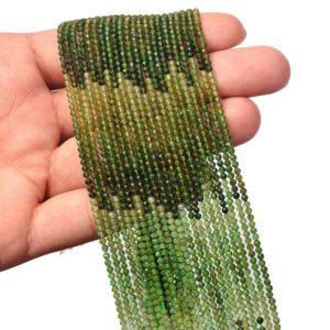 Shop Green Tourmaline Beads! Natural AAA+ Multi Green Tourmaline 2mm-3mm Faceted Rondelle Loose Beads | 13inch Strand | Green Tourmaline Semi Precious Gemstone Beads | Natural genuine faceted Green Tourmaline beads for beading and jewelry making.  #jewelry #beads #beadedjewelry #diyjewelry #jewelrymaking #beadstore #beading #affiliate #ad