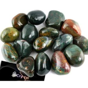 Shop Tumbled Bloodstone Crystals & Pocket Stones! Half Pound Bulk Tumbled Bloodstone Large Gemstone Crystal Healing, Polished Stones For Jewelry Making, Aries Or Pieces Purifying Birthstone | Natural genuine stones & crystals in various shapes & sizes. Buy raw cut, tumbled, or polished gemstones for making jewelry or crystal healing energy vibration raising reiki stones. #crystals #gemstones #crystalhealing #crystalsandgemstones #energyhealing #affiliate #ad