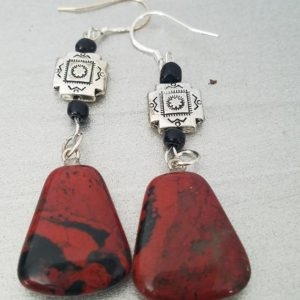Shop Mahogany Obsidian Earrings! Handmade Mahogany Obsidian Earrings, Genuine Stone, Natural Stone, Southwestern, Tribal, Black Inclusions, Protects Against Anxiety, | Natural genuine Mahogany Obsidian earrings. Buy crystal jewelry, handmade handcrafted artisan jewelry for women.  Unique handmade gift ideas. #jewelry #beadedearrings #beadedjewelry #gift #shopping #handmadejewelry #fashion #style #product #earrings #affiliate #ad