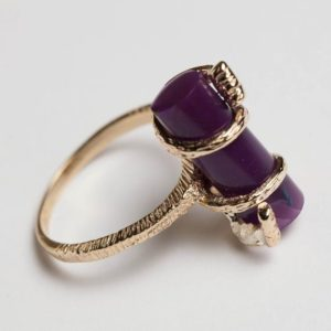 Shop Sugilite Jewelry! Handmade Sugilite Ring in 14K Gold | Natural genuine Sugilite jewelry. Buy crystal jewelry, handmade handcrafted artisan jewelry for women.  Unique handmade gift ideas. #jewelry #beadedjewelry #beadedjewelry #gift #shopping #handmadejewelry #fashion #style #product #jewelry #affiliate #ad
