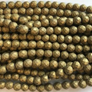Shop Hematite Faceted Beads! hematite 6mm 8mm 10mm faceted Round Gemstone Bead –15.5 inch strand | Natural genuine faceted Hematite beads for beading and jewelry making.  #jewelry #beads #beadedjewelry #diyjewelry #jewelrymaking #beadstore #beading #affiliate #ad