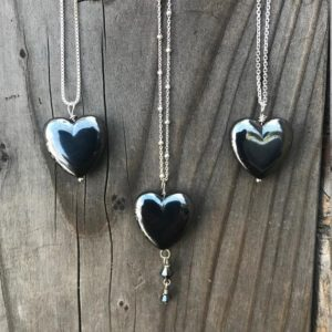 Shop Hematite Pendants! Hematite; Hematite Necklace; Hematite Pendant; Hematite Heart; Chakra Jewelry; Sterling Silver | Natural genuine Hematite pendants. Buy crystal jewelry, handmade handcrafted artisan jewelry for women.  Unique handmade gift ideas. #jewelry #beadedpendants #beadedjewelry #gift #shopping #handmadejewelry #fashion #style #product #pendants #affiliate #ad