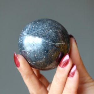 Shop Hematite Shapes! Hematite Sphere, Protection Stone Crystal Ball | Natural genuine stones & crystals in various shapes & sizes. Buy raw cut, tumbled, or polished gemstones for making jewelry or crystal healing energy vibration raising reiki stones. #crystals #gemstones #crystalhealing #crystalsandgemstones #energyhealing #affiliate #ad