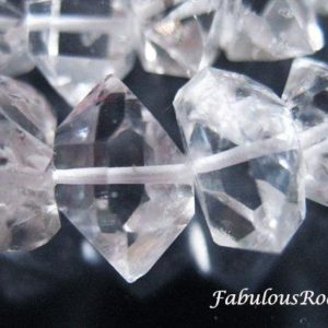 Shop Herkimer Diamond Beads! Herkimer Beads Herkimer Diamond Herkimer Nuggets Wholesale Crystal Quartz 14-16 mm Loose Gemstone Beads Loose Herkimers Giant Focals xxl   Natural genuine chip Herkimer Diamond beads for beading and jewelry making.  #jewelry #beads #beadedjewelry #diyjewelry #jewelrymaking #beadstore #beading #affiliate #ad