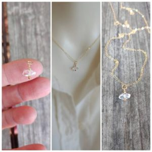 Shop Herkimer Diamond Pendants! Herkimer diamond pendant necklace. Gold herkimer necklace. Rose gold herkimer necklace. Silver herkimer necklace | Natural genuine Herkimer Diamond pendants. Buy crystal jewelry, handmade handcrafted artisan jewelry for women.  Unique handmade gift ideas. #jewelry #beadedpendants #beadedjewelry #gift #shopping #handmadejewelry #fashion #style #product #pendants #affiliate #ad