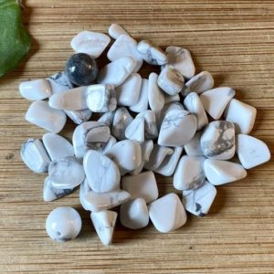 Shop Tumbled Howlite Crystals & Pocket Stones! Howlite Tumbled Chips Gift Bag jewelry making crafts crafting roller ball bottle | Natural genuine stones & crystals in various shapes & sizes. Buy raw cut, tumbled, or polished gemstones for making jewelry or crystal healing energy vibration raising reiki stones. #crystals #gemstones #crystalhealing #crystalsandgemstones #energyhealing #affiliate #ad