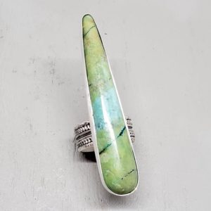 Shop Rainforest Jasper Jewelry! Incredible Rainforest Jasper Spike Ring, Custom Sized HUGE Gemstone Talon Ring with Super Wide Band, Truly One of Kind Ring   Natural genuine Rainforest Jasper jewelry. Buy crystal jewelry, handmade handcrafted artisan jewelry for women.  Unique handmade gift ideas. #jewelry #beadedjewelry #beadedjewelry #gift #shopping #handmadejewelry #fashion #style #product #jewelry #affiliate #ad