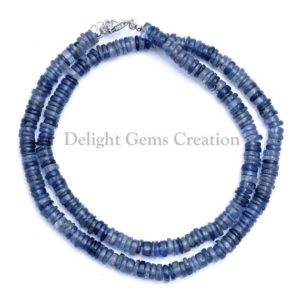 Shop Iolite Necklaces! Natural Iolite Beaded Necklace, 5mm Iolite Smooth Round Tyre Bead Necklace,Iolite Gemstone Necklace,Iolite Jewelry 18 Inch Finished Necklace | Natural genuine Iolite necklaces. Buy crystal jewelry, handmade handcrafted artisan jewelry for women.  Unique handmade gift ideas. #jewelry #beadednecklaces #beadedjewelry #gift #shopping #handmadejewelry #fashion #style #product #necklaces #affiliate #ad