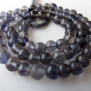 Shop Iolite Round Beads! Natural Blue Iolite Round Beads, Iolite Smooth Round Beads, 4mm Beads And 5mm Beads, Iolite Jewelry, GDS912 | Natural genuine round Iolite beads for beading and jewelry making.  #jewelry #beads #beadedjewelry #diyjewelry #jewelrymaking #beadstore #beading #affiliate #ad