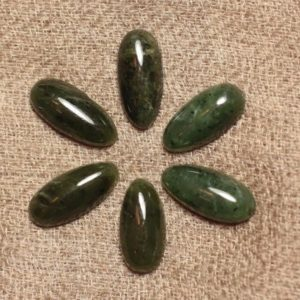 Shop Jade Cabochons! Stone – Canada Nephrite Jade cabochon – drop 4558550031242 15x7mm | Natural genuine stones & crystals in various shapes & sizes. Buy raw cut, tumbled, or polished gemstones for making jewelry or crystal healing energy vibration raising reiki stones. #crystals #gemstones #crystalhealing #crystalsandgemstones #energyhealing #affiliate #ad