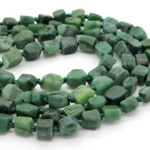 Shop Jade Chip & Nugget Beads! Jade, Natural Australia Jade Rough Cut Nugget Cube Chips Loose Gemstone Assorted Size Beads – Full Strand | Natural genuine chip Jade beads for beading and jewelry making.  #jewelry #beads #beadedjewelry #diyjewelry #jewelrymaking #beadstore #beading #affiliate #ad