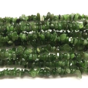 Shop Jade Chip & Nugget Beads! Natural Green Jade 5-8mm Chips Genuine Gemstone Nugget Loose Beads 34 inch Jewelry Supply Bracelet Necklace Material Support Wholesale | Natural genuine chip Jade beads for beading and jewelry making.  #jewelry #beads #beadedjewelry #diyjewelry #jewelrymaking #beadstore #beading #affiliate #ad