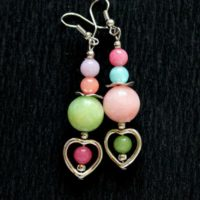 Jade Earrings, Heart Earrings, Colorful Earrings, Teen Girls Earrings,  Hippie Earrings, Bohemian Earrings, Cute Earrings, Pastel Earrings | Natural genuine Gemstone jewelry. Buy crystal jewelry, handmade handcrafted artisan jewelry for women.  Unique handmade gift ideas. #jewelry #beadedjewelry #beadedjewelry #gift #shopping #handmadejewelry #fashion #style #product #jewelry #affiliate #ad