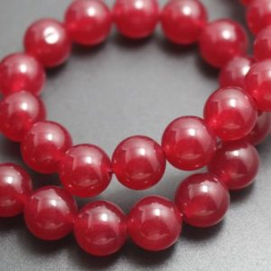 Shop Jade Round Beads! 14mm Red Jade Beads,Dyed Candy Jade Beads,Smooth and Round  Beads,15 inches one starand | Natural genuine round Jade beads for beading and jewelry making.  #jewelry #beads #beadedjewelry #diyjewelry #jewelrymaking #beadstore #beading #affiliate #ad