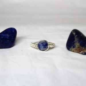 Shop Sodalite Jewelry! Jaded Love Sodalite Ring | Natural genuine Sodalite jewelry. Buy crystal jewelry, handmade handcrafted artisan jewelry for women.  Unique handmade gift ideas. #jewelry #beadedjewelry #beadedjewelry #gift #shopping #handmadejewelry #fashion #style #product #jewelry #affiliate #ad