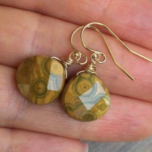 Shop Jasper Earrings! Picasso Jasper  Earrings. Earthy Brown stones. Gold, Rose Gold or Sterling Silver. Wire wrapped | Natural genuine Jasper earrings. Buy crystal jewelry, handmade handcrafted artisan jewelry for women.  Unique handmade gift ideas. #jewelry #beadedearrings #beadedjewelry #gift #shopping #handmadejewelry #fashion #style #product #earrings #affiliate #ad