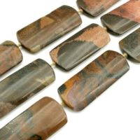 Autumn Jasper Long Rectangular Beads 17.5-20mm (etb01283) Unique Jewelry / vintage Jewelry / gemstone Necklace | Natural genuine Gemstone jewelry. Buy crystal jewelry, handmade handcrafted artisan jewelry for women.  Unique handmade gift ideas. #jewelry #beadedjewelry #beadedjewelry #gift #shopping #handmadejewelry #fashion #style #product #jewelry #affiliate #ad