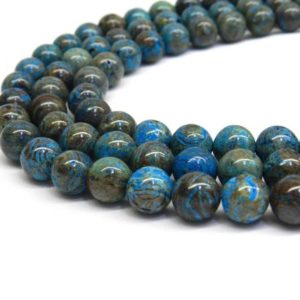 Shop Jasper Bead Shapes! Calsilica Beads, Blue Jasper, 6mm Beads 8mm Beads, Jasper Beads, Stripe Jasper Turquoise Beads, Blue Jasper Beads Blue Beads, Gemstone Beads | Natural genuine other-shape Jasper beads for beading and jewelry making.  #jewelry #beads #beadedjewelry #diyjewelry #jewelrymaking #beadstore #beading #affiliate #ad