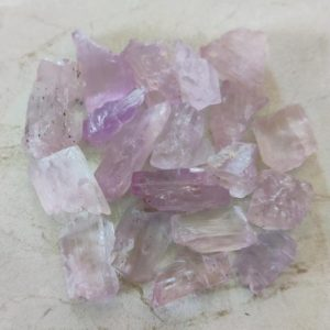 Shop Kunzite Stones & Crystals! AAA Quality 25 PC LOT Pink Kunzite Raw Stone, Kunzite Crystal, Natural Kunzite Gemstone, Healing Crystal Raw,8×10, 10×12, 15x,20 Mm Size | Natural genuine stones & crystals in various shapes & sizes. Buy raw cut, tumbled, or polished gemstones for making jewelry or crystal healing energy vibration raising reiki stones. #crystals #gemstones #crystalhealing #crystalsandgemstones #energyhealing #affiliate #ad