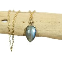 Labradorite Necklace, Dainty Necklace, Teardrop Pendant, Rainbow Crystal Necklace, Blue Gemstone Pendant, Flashy Labradorite, Something Blue | Natural genuine Gemstone jewelry. Buy crystal jewelry, handmade handcrafted artisan jewelry for women.  Unique handmade gift ideas. #jewelry #beadedjewelry #beadedjewelry #gift #shopping #handmadejewelry #fashion #style #product #jewelry #affiliate #ad