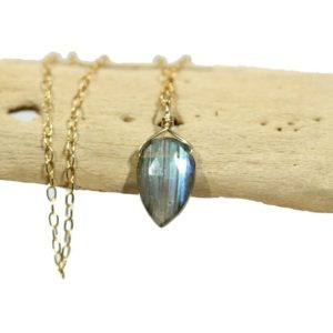 Shop Labradorite Pendants! Labradorite necklace, dainty necklace, teardrop pendant, rainbow crystal necklace, blue gemstone pendant, flashy labradorite, something blue | Natural genuine Labradorite pendants. Buy crystal jewelry, handmade handcrafted artisan jewelry for women.  Unique handmade gift ideas. #jewelry #beadedpendants #beadedjewelry #gift #shopping #handmadejewelry #fashion #style #product #pendants #affiliate #ad