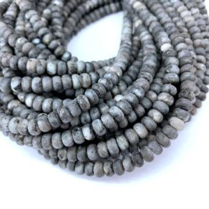 Matte Black Labradorite Rondelle Beads 8x5mm 6x4mm, Natural Frosted Black Blue Flash Labradorite Gemstone Beads Mala Beads, Yoga Spacer Bead | Natural genuine rondelle Array beads for beading and jewelry making.  #jewelry #beads #beadedjewelry #diyjewelry #jewelrymaking #beadstore #beading #affiliate #ad