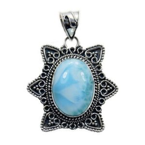 Shop Larimar Pendants! Captivating Larimar Pendant Blue Pendant Larimar Jewelry Oval Pendant, Gemstone Necklace,  Sterling Silver Pendant, Y542 The Silver Plaza | Natural genuine Larimar pendants. Buy crystal jewelry, handmade handcrafted artisan jewelry for women.  Unique handmade gift ideas. #jewelry #beadedpendants #beadedjewelry #gift #shopping #handmadejewelry #fashion #style #product #pendants #affiliate #ad