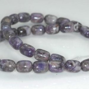 Shop Lepidolite Bead Shapes! 12X9mm Purple Lepidolite Gemstone Grade A Drum Barrel Loose Beads 15.5 inch Full Strand (90188014-672) | Natural genuine other-shape Lepidolite beads for beading and jewelry making.  #jewelry #beads #beadedjewelry #diyjewelry #jewelrymaking #beadstore #beading #affiliate #ad