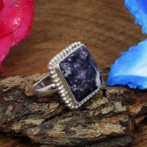 Shop Lepidolite Rings! Lepidolite Ring, Solid 925 Sterling Silver Ring, Purple Ring,Bezel Set, Designer Jewelry, Unisex Ring, Gemstone Ring,Blossom Silver Jewelry | Natural genuine Lepidolite rings, simple unique handcrafted gemstone rings. #rings #jewelry #shopping #gift #handmade #fashion #style #affiliate #ad