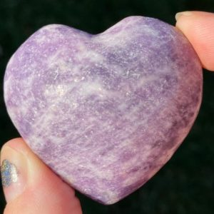 "Shop Lepidolite Shapes! 1.9"" Sparkly Lepidolite Heart   Purple Lithium Mica Crystal #2 