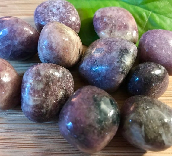 Tumbled Lepidolite Stones Set With Gift Bag And Note
